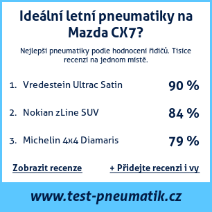 Test pneumatik na Mazda CX7