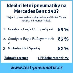 Test pneumatik na Mercedes Benz 190