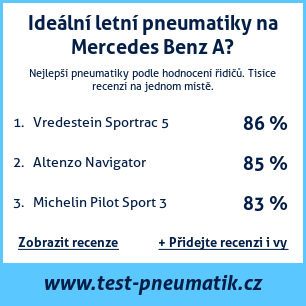 Test pneumatik na Mercedes Benz A