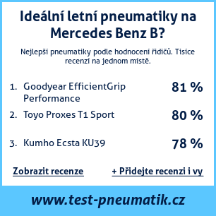Test pneumatik na Mercedes Benz B