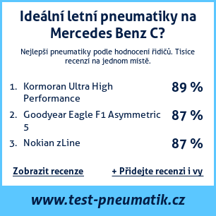 Test pneumatik na Mercedes Benz C