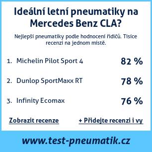 Test pneumatik na Mercedes Benz CLA