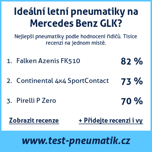 Test pneumatik na Mercedes Benz GLK