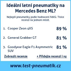 Test pneumatik na Mercedes Benz ML