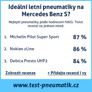 Test pneumatik na Mercedes Benz S