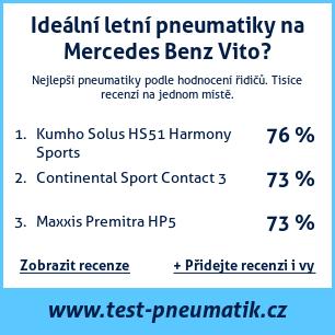 Test pneumatik na Mercedes Benz Vito