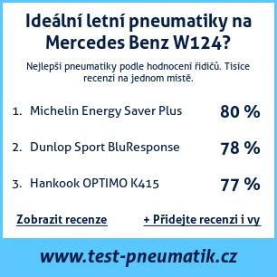 Test pneumatik na Mercedes Benz W124
