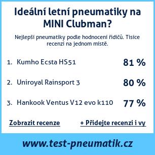 Test pneumatik na MINI Clubman