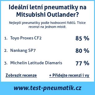 Test pneumatik na Mitsubishi Outlander