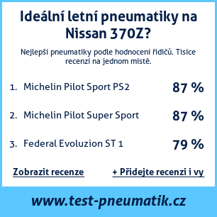 Test pneumatik na Nissan 370Z