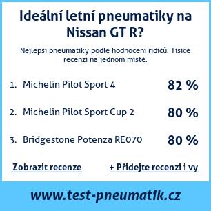 Test pneumatik na Nissan GT R