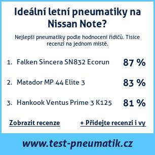 Test pneumatik na Nissan Note