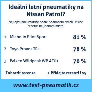 Test pneumatik na Nissan Patrol