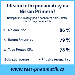 Test pneumatik na Nissan Primera