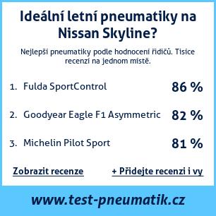 Test pneumatik na Nissan Skyline