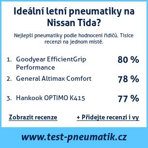 Test pneumatik na Nissan Tida