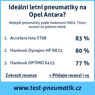 Test pneumatik na Opel Antara