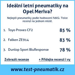 Test pneumatik na Opel Meriva