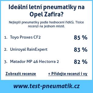 Test pneumatik na Opel Zafira