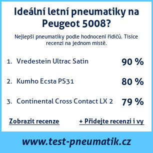 Test pneumatik na Peugeot 5008