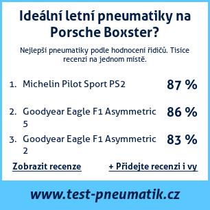 Test pneumatik na Porsche Boxster