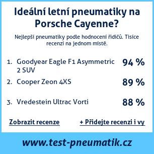 Test pneumatik na Porsche Cayenne