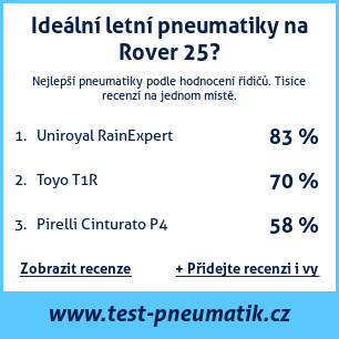 Test pneumatik na Rover 25