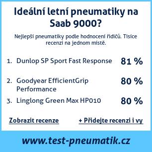 Test pneumatik na Saab 9000