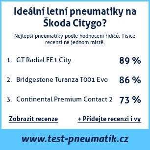 Test pneumatik na Škoda Citygo
