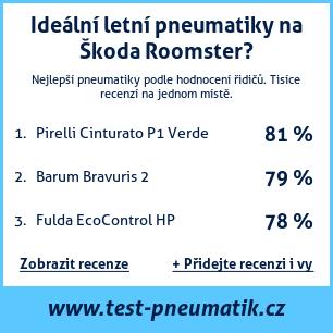 Test pneumatik na Škoda Roomster