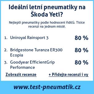 Test pneumatik na Škoda Yeti