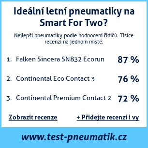 Test pneumatik na Smart For Two
