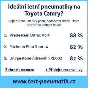 Test pneumatik na Toyota Camry