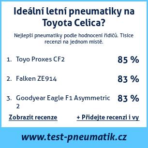 Test pneumatik na Toyota Celica