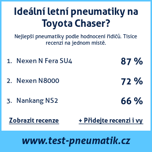 Test pneumatik na Toyota Chaser