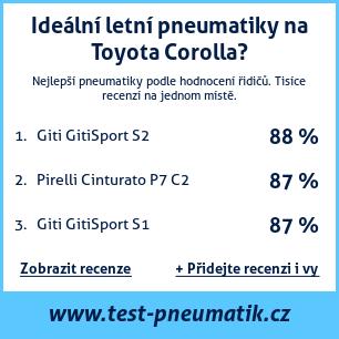 Test pneumatik na Toyota Corolla