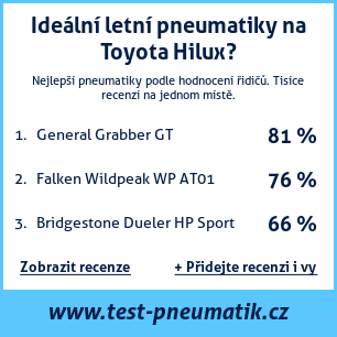 Test pneumatik na Toyota Hilux