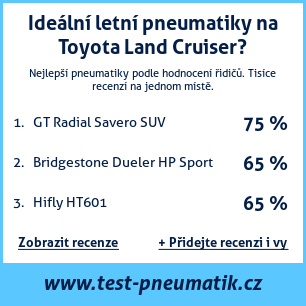 Test pneumatik na Toyota Land Cruiser