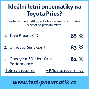 Test pneumatik na Toyota Prius