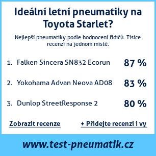 Test pneumatik na Toyota Starlet