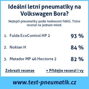 Test pneumatik na Volkswagen Bora