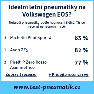 Test pneumatik na Volkswagen EOS