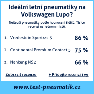Test pneumatik na Volkswagen Lupo