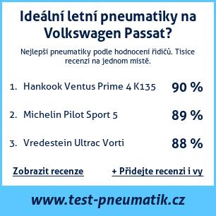 Test pneumatik na Volkswagen Passat