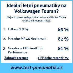 Test pneumatik na Volkswagen Touran