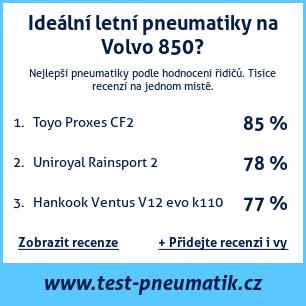 Test pneumatik na Volvo 850