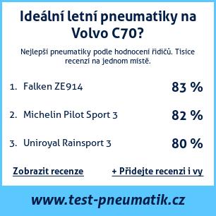 Test pneumatik na Volvo C70