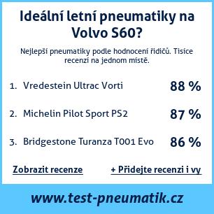 Test pneumatik na Volvo S60