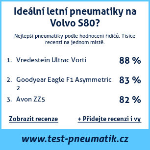 Test pneumatik na Volvo S80