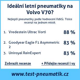 Test pneumatik na Volvo V70